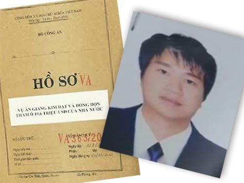 Chân dung Giang Kim Đạt và hồ sơ vụ án về đối tượng này. (Ảnh do cơ quan chức năng cung cấp)