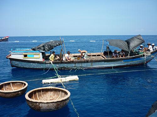 Do tàu công suất nhỏ, trang thiết bị thô sơ nên ngư dân tập trung đánh bắt gần bờ
