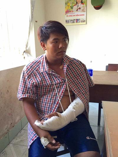 Nguyễn Phước Hải, đối tượng tham gia vụ truy sát khuya 4-4, bị công an bắt giữ