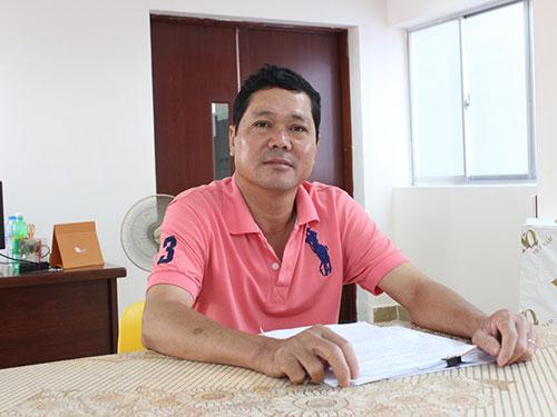 Ông Trần Công Thành trình bày bức xúc tại Báo Người Lao Động