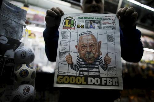 Nguyên chủ tịch CBF José Maria Marin trên các trang báo Brazil