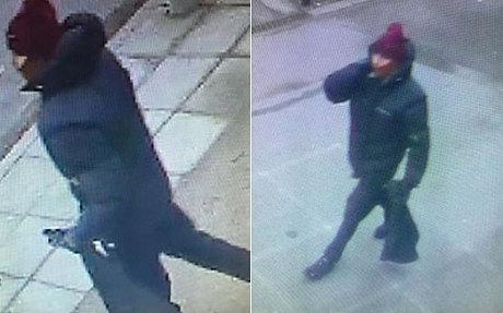 Hình ảnh nghi phạm trong 2 vụ tấn công. Ảnh: Telegraph