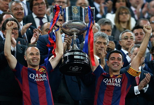Barca vừa giành thêm Cúp Nhà vua sau chức vô địch La Liga mùa 2014-2015