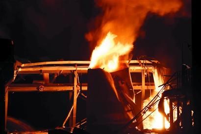 Hình ảnh vụ nổ tại tỉnh Sơn  Đông. Ảnh: Xinhua