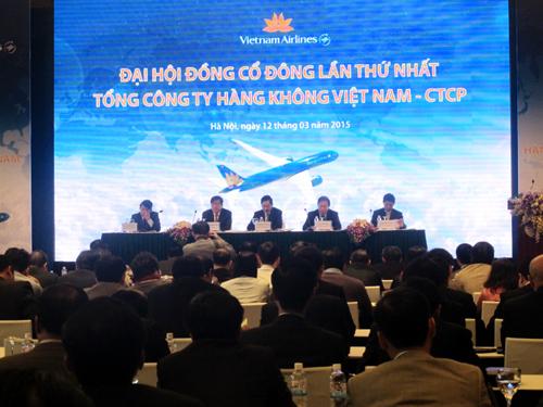 Đại hội đồng cổ đông lần thứ nhất Tổng công ty Hàng không Việt Nam-CTCP. Ảnh Văn Duẩn