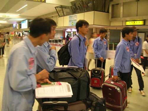 Phần lớn lao động Việt Nam sang Đài Loan làm việc ở lĩnh vực công xưởng
