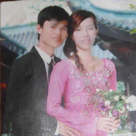 Ảnh cưới của chị Nguyễn Thị Đào và anh Nguyễn Bá Thanh