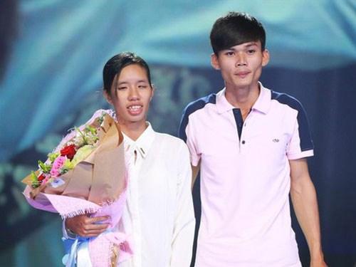Anh Nguyễn Nhật Thanh và Chị Nguyễn Như Đào trong Chương trình Điều ước thứ bảy trên sóng VTV3 ngày 10-1 vừa qua