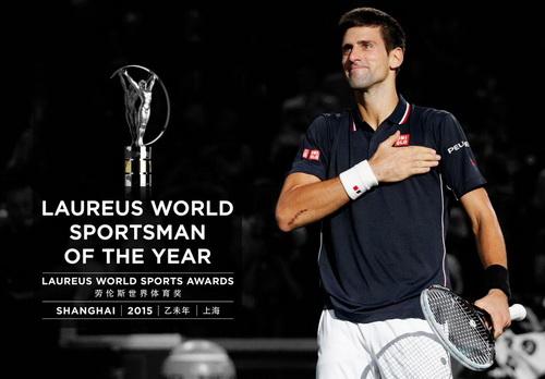 Novak Djokovic nhận giải thưởng VĐV của năm