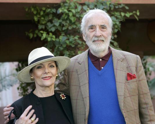 Christopher Lee và vợ