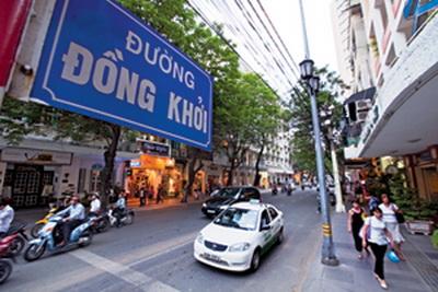 Đường Đồng Khởi có giá 162 triệu đồng/m2