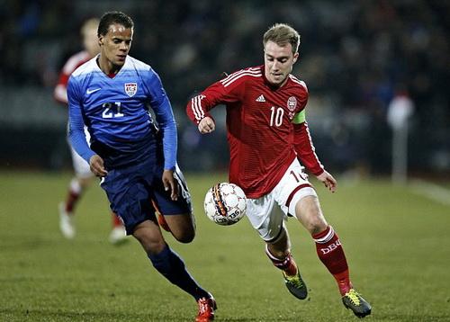 Thủ quân Eriksen lập kỷ lục của bóng đá Đan Mạch
