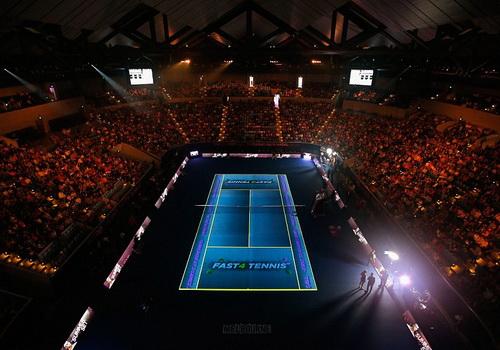 Sân Melbourne, nơi Nadal và Phillippousis tranh tài