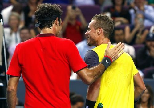 Federer và Hewitt sau trận đấu thử nghiệm Fast4
