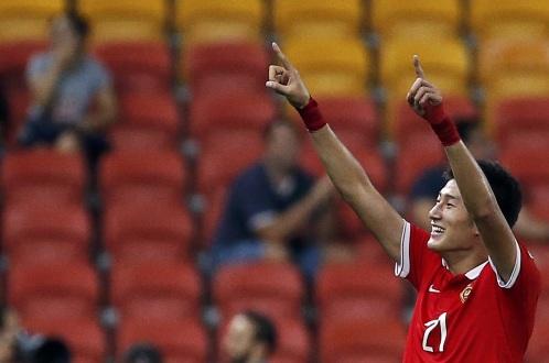 Yu Hai ghi bàn duy nhất cho Trung Quốc