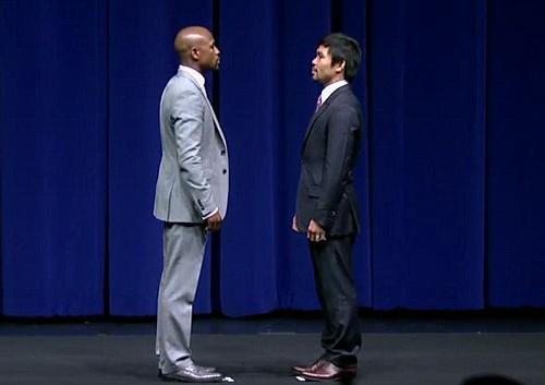 Hai võ sĩ đối mặt trong... 38 giây tại buổi họp báo