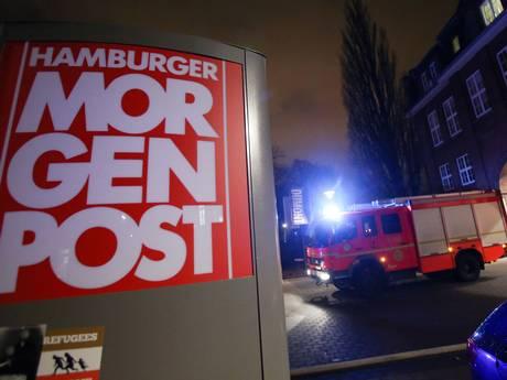 Tòa soạn báo Hamburger Morgenpost bị tấn công. Ảnh: EPA