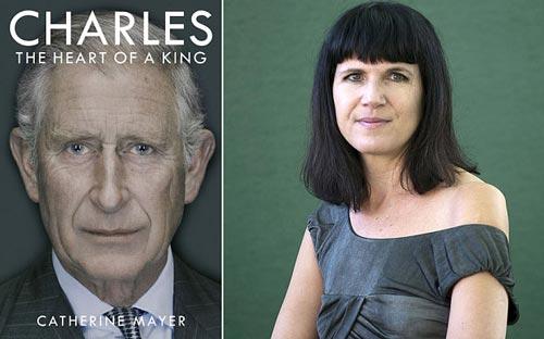 Bà Catherine Mayer và quyển tiểu sử mới về Thái tử Charles Ảnh: PA & REX