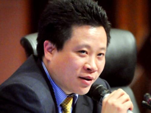 Ông Hà Văn Thắm khi còn là chủ tịch Oceanbank
