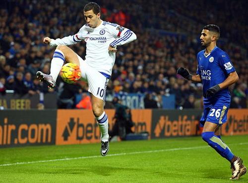 Chelsea hai lần mất điiểm trước Leicester mùa giải năm ngoái