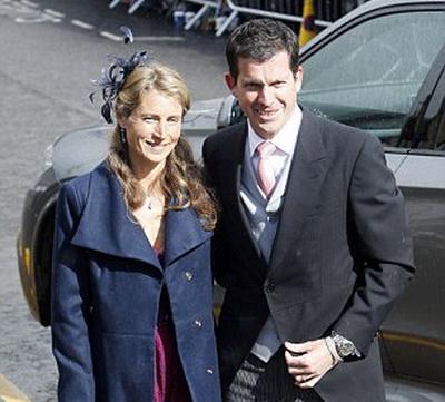 Cựu danh thủ Tim Henman và vợ tham dự lễ cưới của Murray