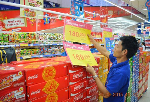 Nước ngọt đang giảm giá mạnh tại Co.opmart