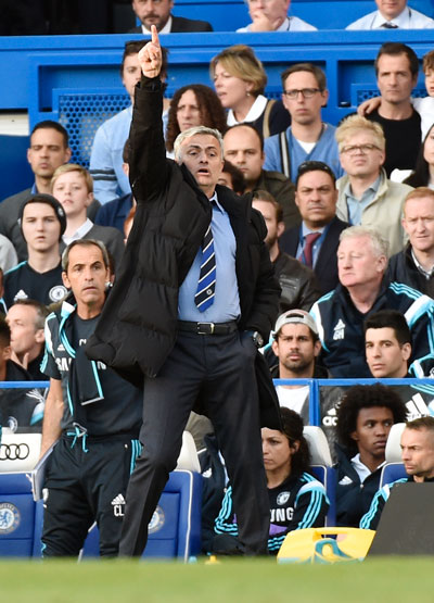 HLV Mourinho giữ được thành tích bất bại ở các đại chiến với đối thủ tốp 6 mùa này Ảnh: REUTERS