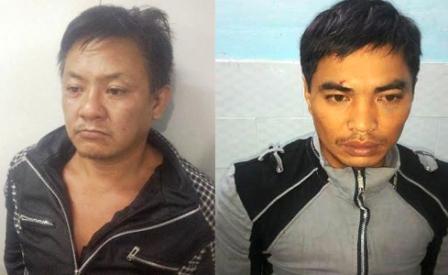Trần Anh Hùng (trái) và Phan Đức Đạt lúc mới bị bắt