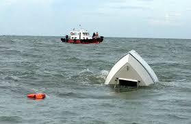 Hiện trường vụ tai nạn tại vùng biển Cồn Ngựa, huyện Cần Giờ - TP HCM