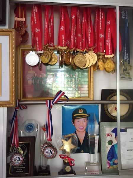 Với những thành tích xuất sắc, Ánh Viên được phong hàm Đại uý