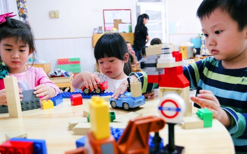 Children play in a classroom at Beijings Little Oaky kindergarten. Photo: Simon Song