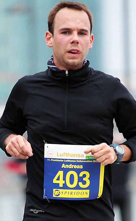Killer in the cockpit: Lubitz competes in a half-marathon in 2013