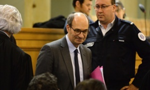 Former French budget minister Eric Woerth, 59, stands accused of possessing stolen goods.