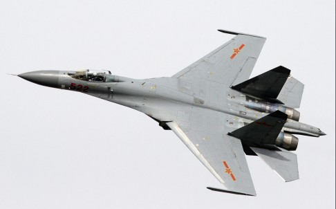 The J-11 can fly about 1,500km before requiring refuelling. Photo: SCMP Pictures