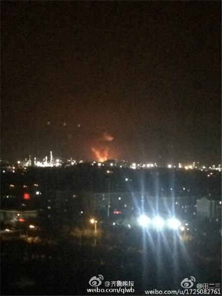 山东淄博一化工厂发生爆炸 附近两公里内有震感