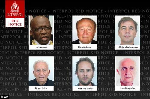 6 nhân vật có liên quan đến FIFA bị Interpol truy nã toàn cầu