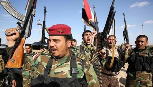 Chính phủ Iraq sử dụng thêm chiến binh người Shiite trong chiến dịch tái chiếm Ramadi Ảnh: ZEE NEWS