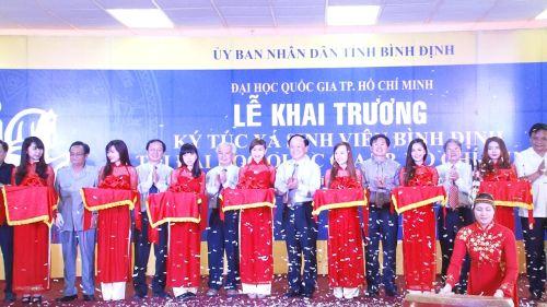 Lễ khai trương ký túc xá sinh viên Bình Định tại khu ký túc xá Đại học Quốc gia TP HCM