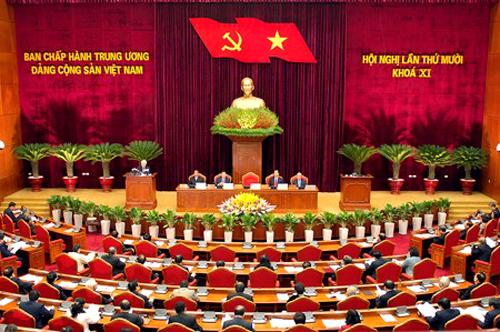 Khai mạc Hội nghị Trung ương 10. Ảnh: VGP