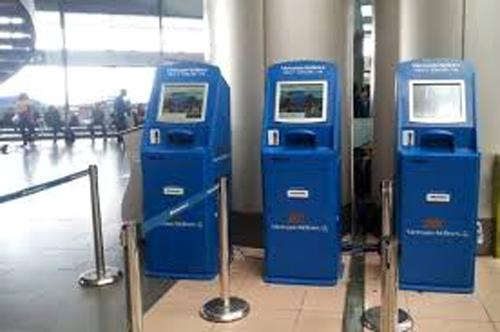Kiosk check in của Vietnam Airlines đặt tại sân bay