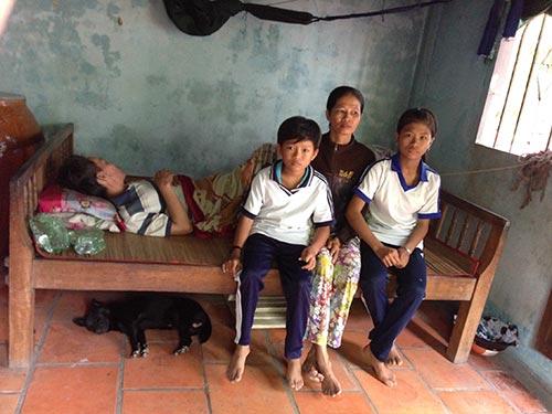 Gia đình chị Cao Thị Út