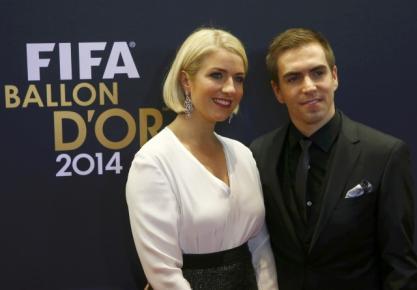 Philipp Lahm và vợ Claudia