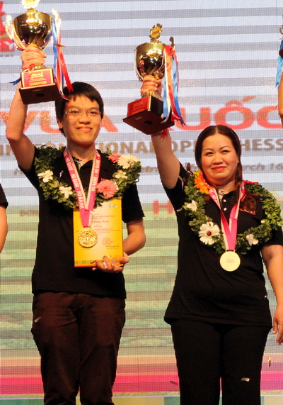 Lê Quang Liêm và Lê Kiều Thiên Kim chiến thắng ở HDBank Cup 2015