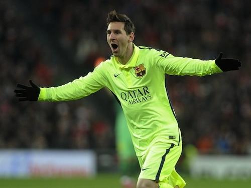 Messi mở tỉ số sớm cho Barcelona