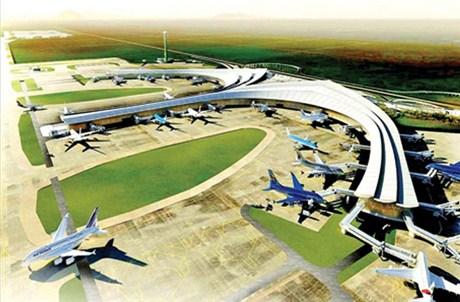 Mô hình sân bay Long Thành