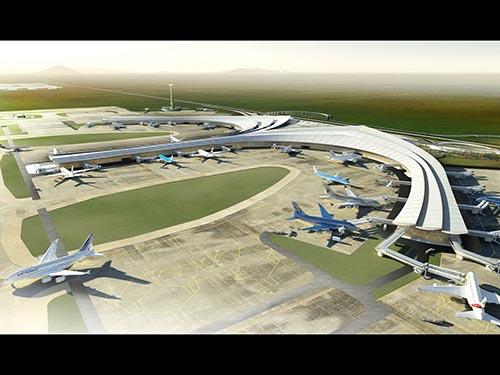 Phối cảnh sân bay Long Thành do Bộ GTVT cung cấp tại các cuộc hội thảo