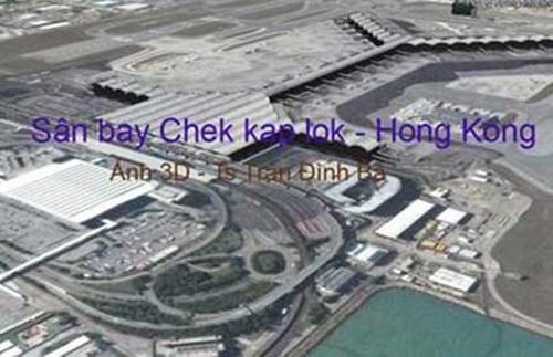 """Phối cảnh sân bay Long Thành do ông Trần Đình Bá dẫn trong bài viết để minh họa cho việc Cục Hàng không """"đạo"""" phối cảnh sân bay Chek Kap Lok"""