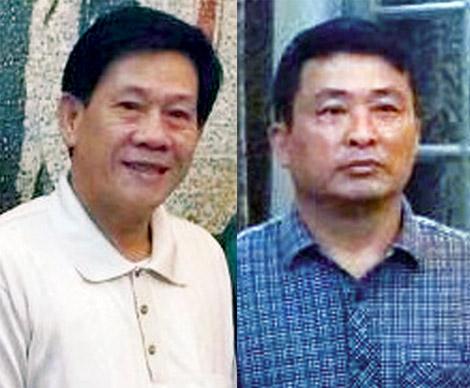 Từ trái qua: Trần Văn Nhứt và Nguyễn Thiên Hưởng