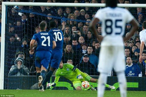 Lukaku (10) ghi bàn quyết định, giúp Everton giành chiến thắng 2-1 trước Dynamo Kiev