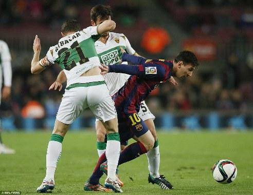 Messi cũng lên tiếng trong chiến thắng đậm đà nhất lượt đi vòng 1/8 Cúp Nhà vua